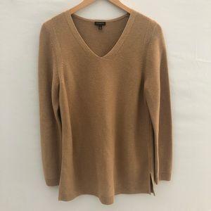 Talbots Camel Tan V-neck Sweater Sz M